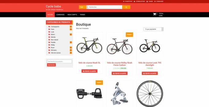 site internet E commerce